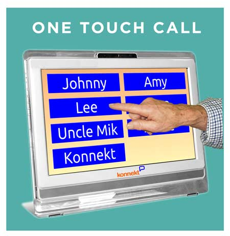 One Touch Video Phone: One touch to call loved ones