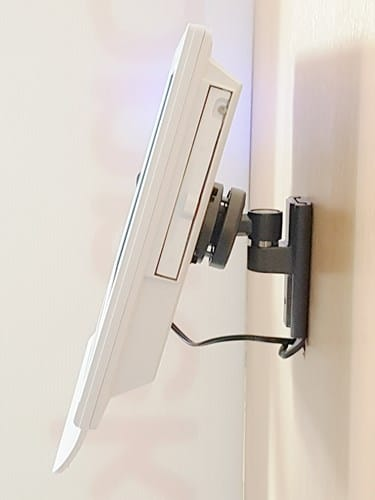 Konnekt video phone with pan-and-tilt wall mount