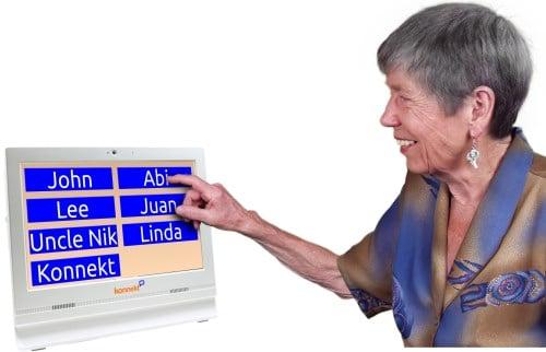 Gran Konnekt Videophone easy healthy one-touch