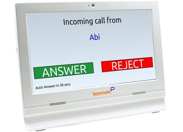 Konnekt Videotelefon vastab automaatselt Abi-le