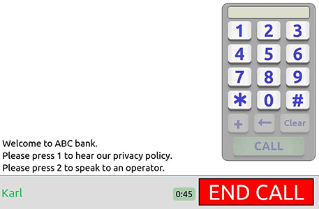 Keypad Dialler during captioned call