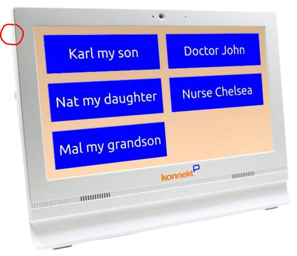 The Videophone power button can be disabled to prevent tampering