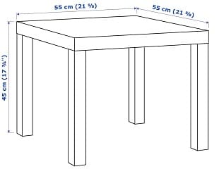 small side table dimensions